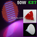 2015 New Arrival 6pcs/lot 50W E27 AC85-265V SMD 500 LEDS Led Plant Grow Lights Led Bulb Led Lamps For Hydroponic & Plants