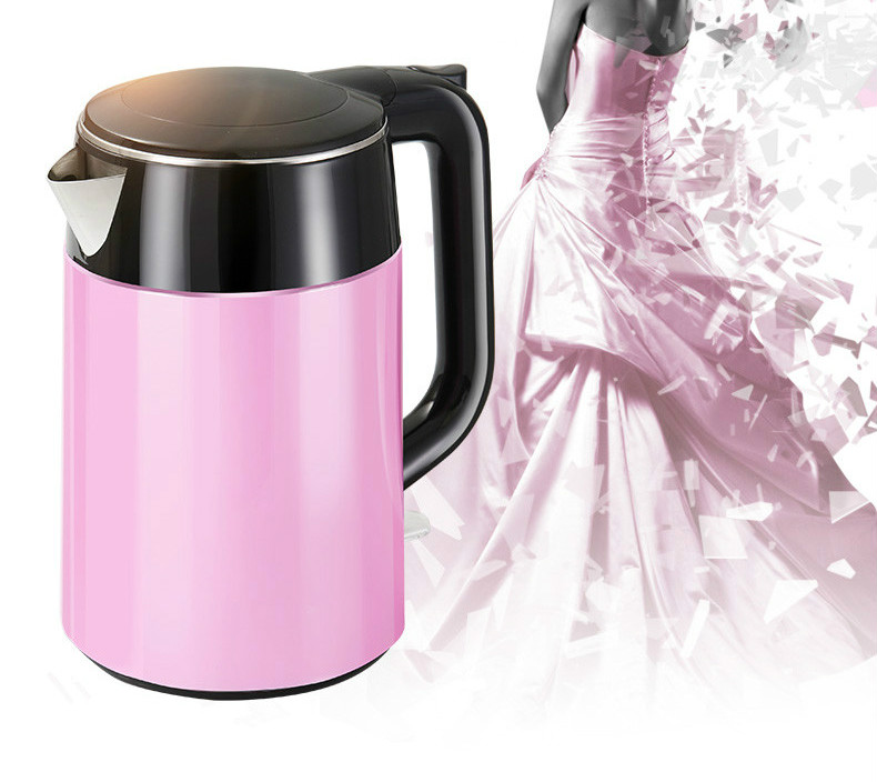 Electric kettle 1.7l household 304 stainless steel anti-scalding water mk hj1512 electric kettle anti scalding household 304 stainless steel fast automatic power off water pot