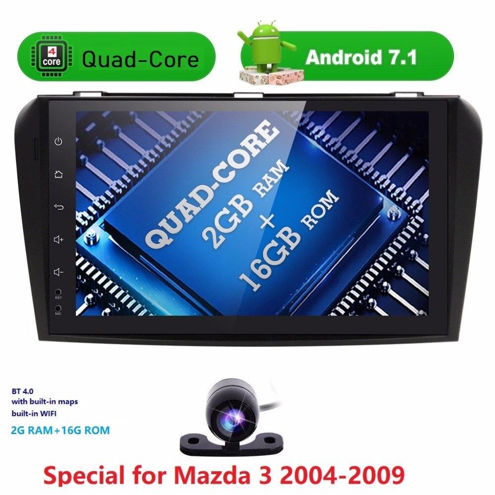 2 GRAMMES Android7.1 Voiture NODVD Joueur avec Système GPS Pour Mazda3 Mazda 3 2004 2005 2006 2007 2008 2009 Peut bus Radio USB SD carte gratuite