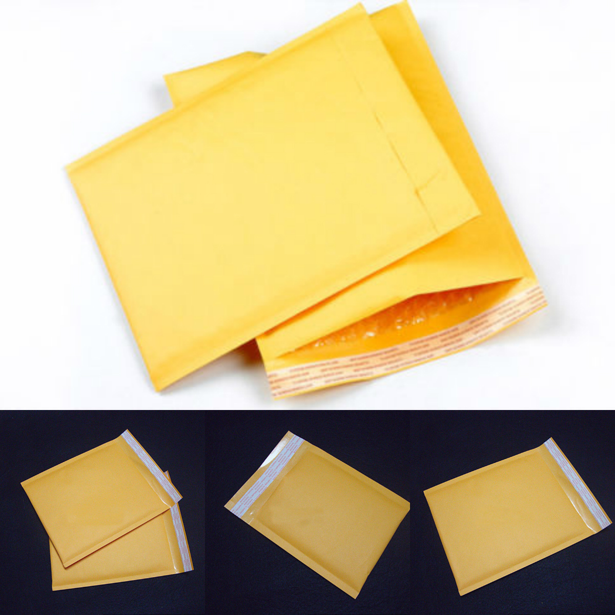 50pcs Foam Bubble Mailers Padded Envelopes Shipping Bags Self Seal 5 Sizes