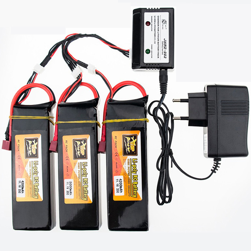 3pcs 11.1V 4200mAh 3S 35C with Lipo Charger for Helicopters Four axis Airplanes Cars Boats power T XT60 Plug 3s lipo bettary3pcs 11.1V 4200mAh 3S 35C with Lipo Charger for Helicopters Four axis Airplanes Cars Boats power T XT60 Plug 3s lipo bettary