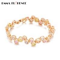 Cubic Zircon 18K Gold Chain Bracelets 2016 NEW Plated Rose Gold Bracelets For Women