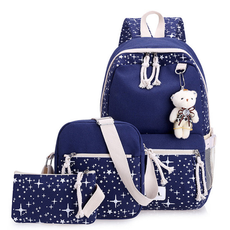 US $15.51 40% OFF|Canvas Kids School Bags 3pcs/set School Backpacks For Children School Bag For Girls Teenagers Orthopedic Backpack WBS474-in School Bags from Luggage & Bags on Aliexpress.com | Alibaba Group