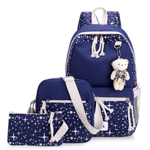 US $15.51 40% OFF Canvas Kids School Bags 3pcs/set School Backpacks For Children School Bag For Girls Teenagers Orthopedic Backpack WBS474-in School Bags from Luggage & Bags on Aliexpress.com   Alibaba Group