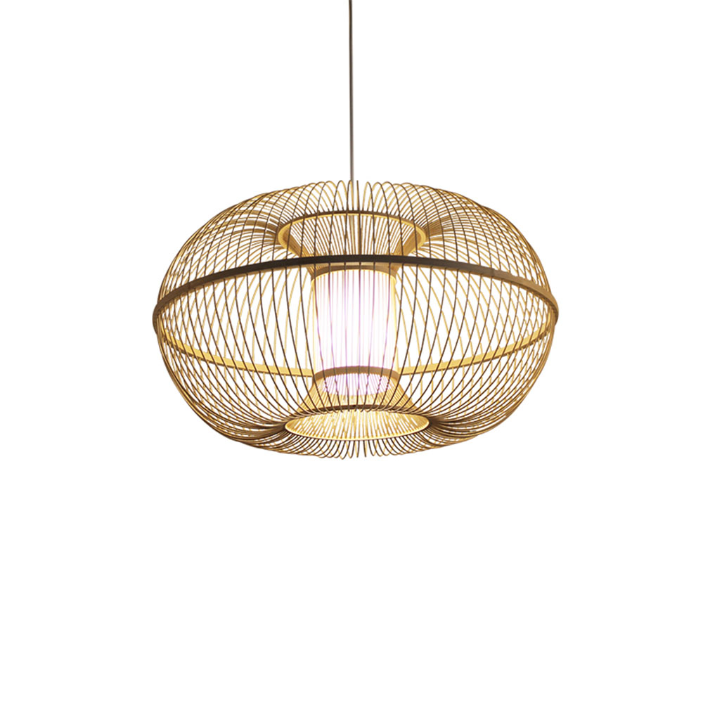Chinese Style Handmade Bamboo Pendant Lights Southeast Asia Brief Restaurant Aisle Vintage Lighting Fixtures Parts