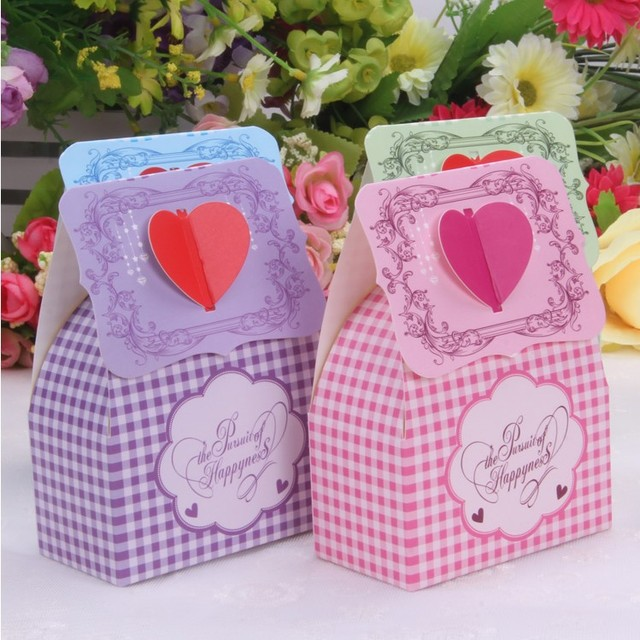 200PCS RED love heart wedding party favor candy box, Sweets gifts chocolate dragee packaging, bomboniere ,Express shipping