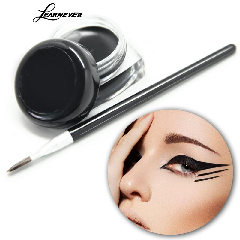 LEARNEVER Long Lasting Eye Liner Waterproof Eyeliner Pen Makeup Eyeliner Shadow Gel + Makeup Brush Kit LY067