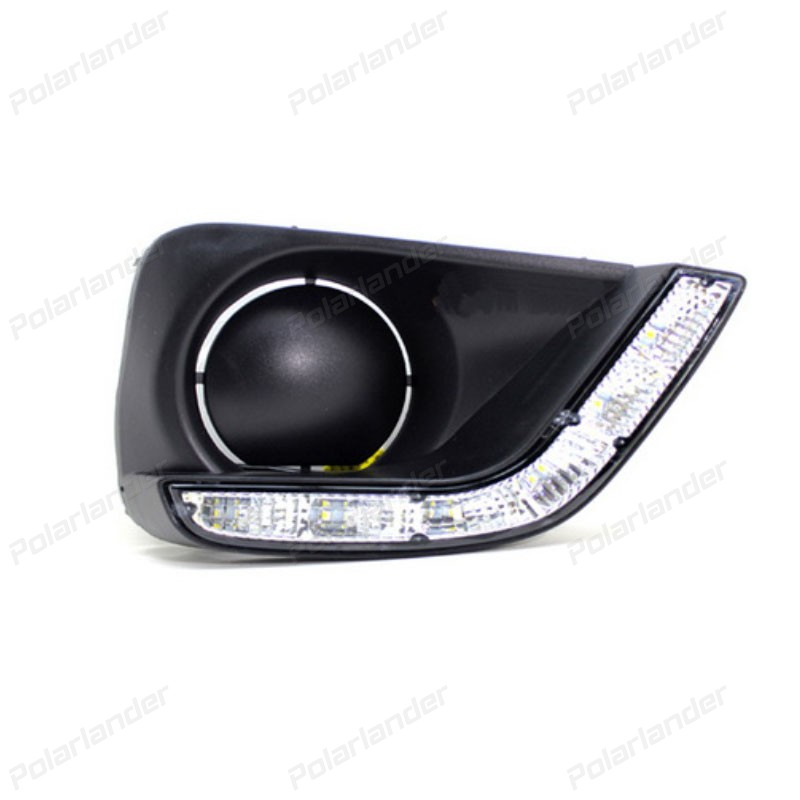 1 pair super bright daytime running light  car styling For T/oyota V/ios 2014-2015 led drl fog lamps