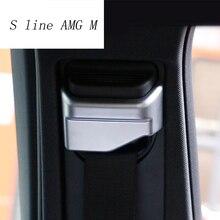 Стайлинга автомобилей Ремень безопасности декоративная накладка-чехол Стикеры для Mercedes Benz GLA CLA класс W176 X156 C117 интерьер Авто аксессуары
