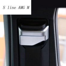 Pegatina de cubierta embellecedora decorativa para cinturón de seguridad de coche, accesorios de Interior para Mercedes Benz A GLA CLA clase W176 X156 C117