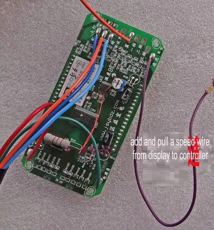 pull speed wire from display to controller