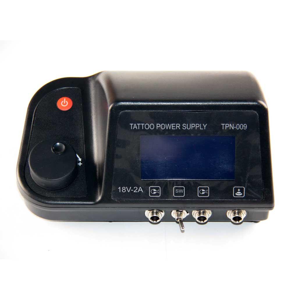 eaf2547378a7 Top Pro Numérique LCD Tatouage Numérique Alimentation + Pied Pétale + Clip  Cord Pour De Tatouage Machine Gun Kits TPN-009