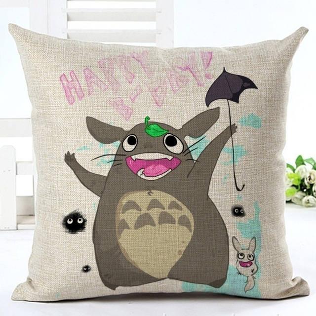 45x45cm Cute Totoro Pillow Cover (8 design)