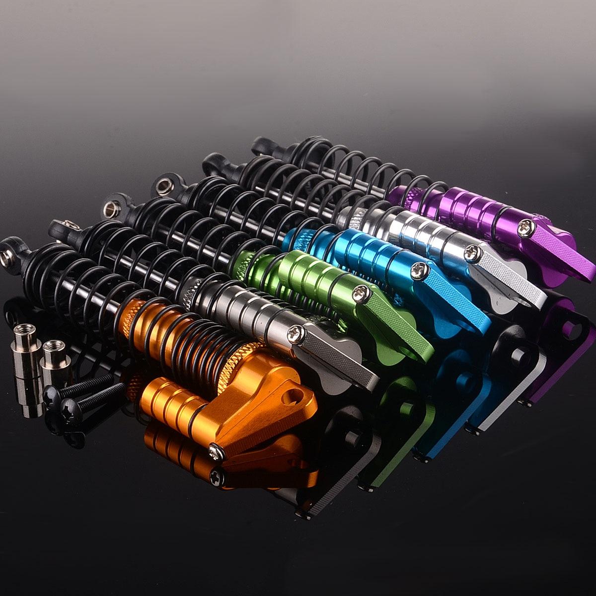 2P RC Aluminum Double Suspension Adjustable Piggyback Shocks 105MM Gold 108004