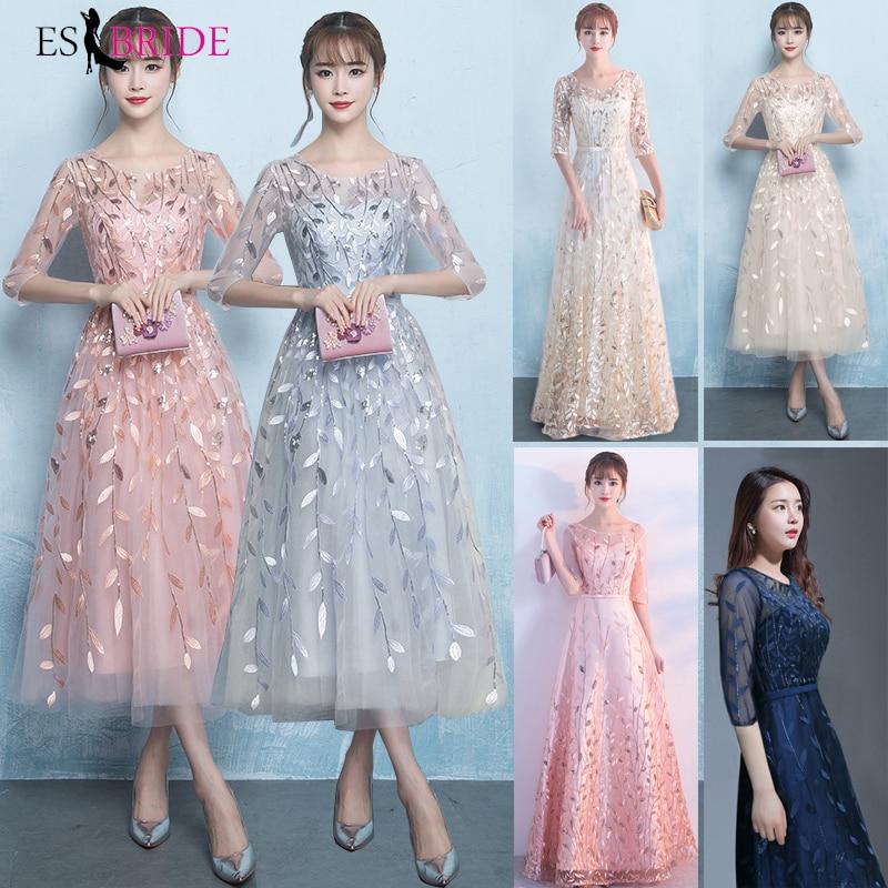Longues robes De soirée 2019 nouvelles robes De bal élégante princesse Robe formelle dentelle Occasion spéciale Robe De soirée Robe De soirée ES1645