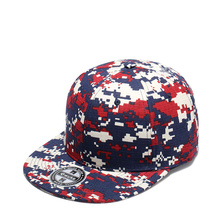 2019 New fashion Baseball hat Camouflage color matching flat hats Adjustable Snapback cap Flat trend street dance caps cheap Baseball Caps V24119169 Casual One Size TUNICA Print Unisex COTTON Adult