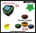 10 botões de chamada + 1 relógios sem fio garçom sistema de chamada para o restaurante fast food