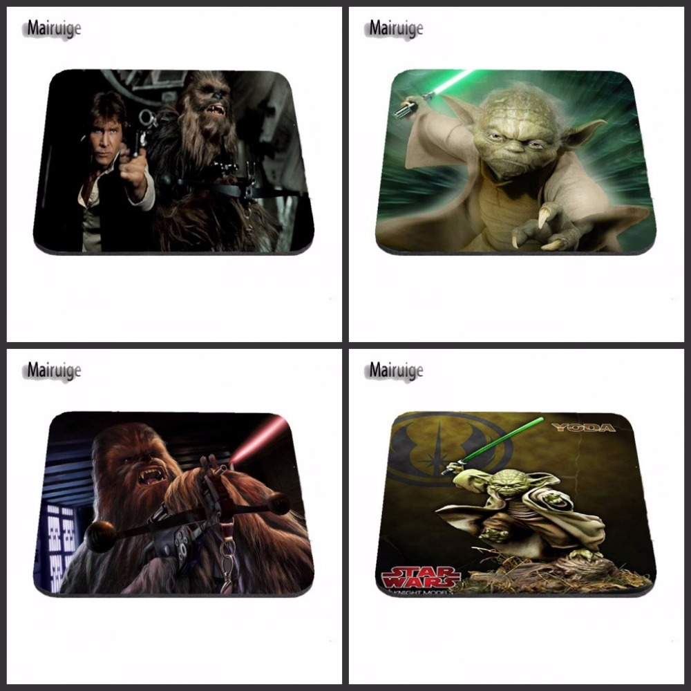 Chewbacca Star Wars Gaming Desk Mat Personalized Durable Mouse Pads Rubber Mouse Pad 180*220*2mm Or 250*290*2mm Gaming Mice Mat