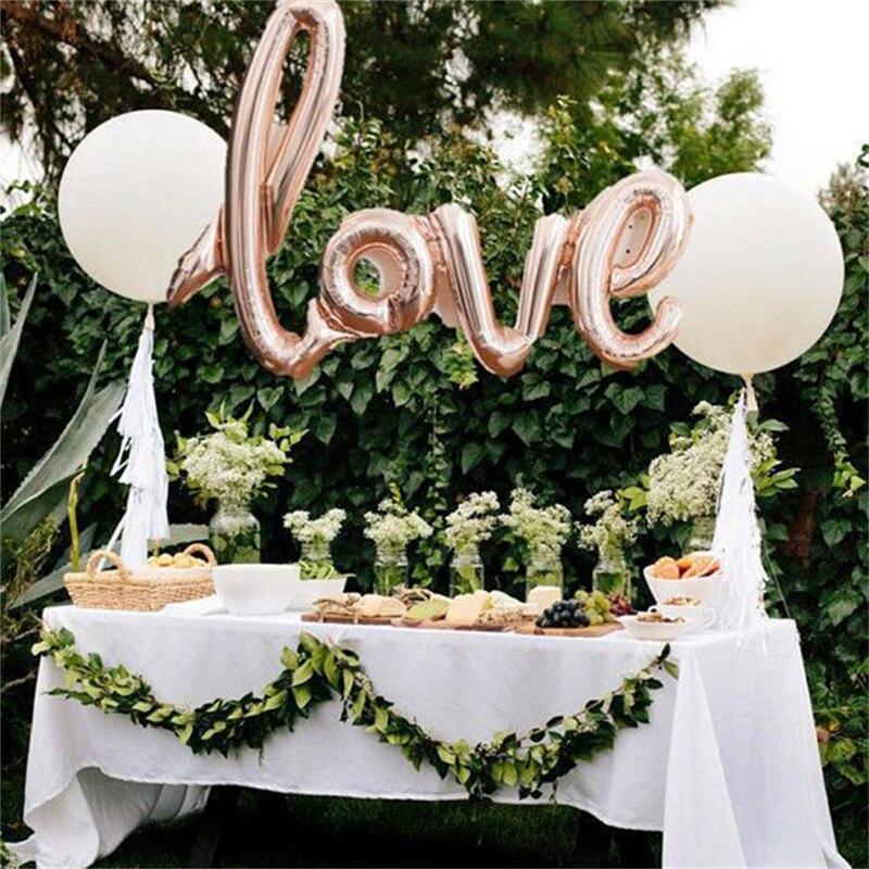 Love letter balloons wedding decorative aluminum film foil balloon love letter balloons wedding decorative aluminum film foil balloon for weddings arrangement party events decoration supplies em bales acessrios de home junglespirit Gallery