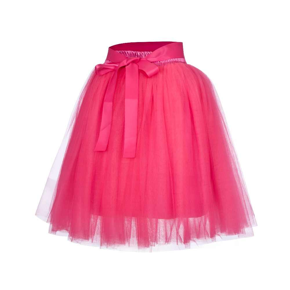f62e1c2ee0 ... 7 Layers Midi Tulle Skirt for Girls Fashion Tutu Skirts Women Ball Gown  Party Petticoat Lolita ...