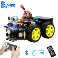 Keywish Robot Cars for Arduino Starter Kit Smart Car APP RC Robotics Learning Kit Educational STEM Toy For Kid Lesson+Video+Code