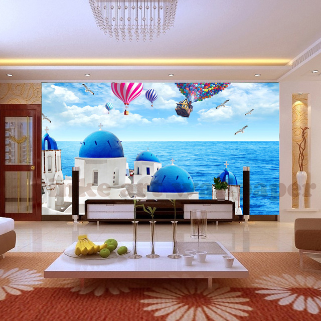 custom wall mural modern art painting high quality mural wallpapercustom wall mural modern art painting high quality mural wallpaper 3d living room tv backdrop seaside castle photo wall paper