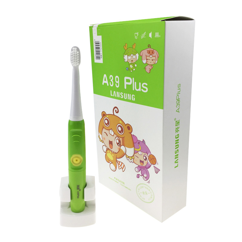 lansung a39 plus children electric toothbrush ipx7 waterproof ultrasonic tooth brush kids soft bristles toothbrush with timer 2pcs philips sonicare replacement e series electric toothbrush head with cap