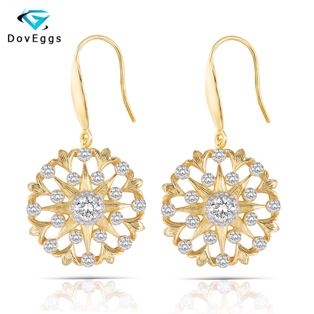 DovEggs Vintage Daily Wear Platinum Plated Silver Main 4mm GH Color Hearts and Arrow Moissanite Drop Earrings for WomenDovEggs Vintage Daily Wear Platinum Plated Silver Main 4mm GH Color Hearts and Arrow Moissanite Drop Earrings for Women