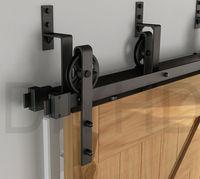 DIYHD 2m Bypass Big Wheel Sliding Barn Wood Door Track Hardware Interior Closet Door Kitchen Door