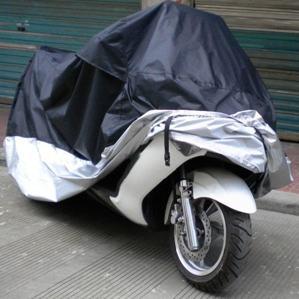 Triclicks UV Extérieure de Protection Moto Couvre Vélo Pluie Poussière Couverture De Moto Imperméable Imperméable à l'eau Antipoussière Couvrant Parasol