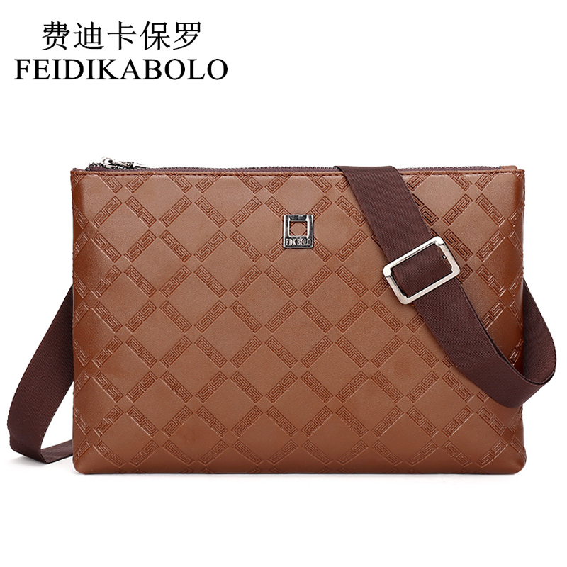все цены на  new 2016 hot sale fashion men bags, men famous brand design leather messenger bag, high quality man brand bag, wholesale price  онлайн