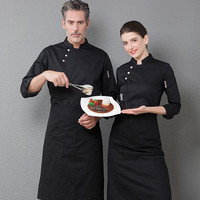 Chefs Wear Long Sleeves Men's Women's Canteens Work Clothes Hotel Restauramt Cakes Bakers Room Kitchen Plus Size Uniforms H2024