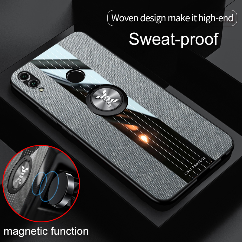 For Huawei Honor 8X Case Matte Cloth Glossy Cover For Huawei Honor 7X 6X 8 X For Huawei Honor 8X Case Matte Cloth Glossy Cover For Huawei Honor 7X 6X 8 X Max Shockproof Phone Case with Magnetic Ring Holder