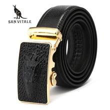 Belts Mens Belt Genuine Leather For Jeans Strap Fashion Man font b Slim b font Black