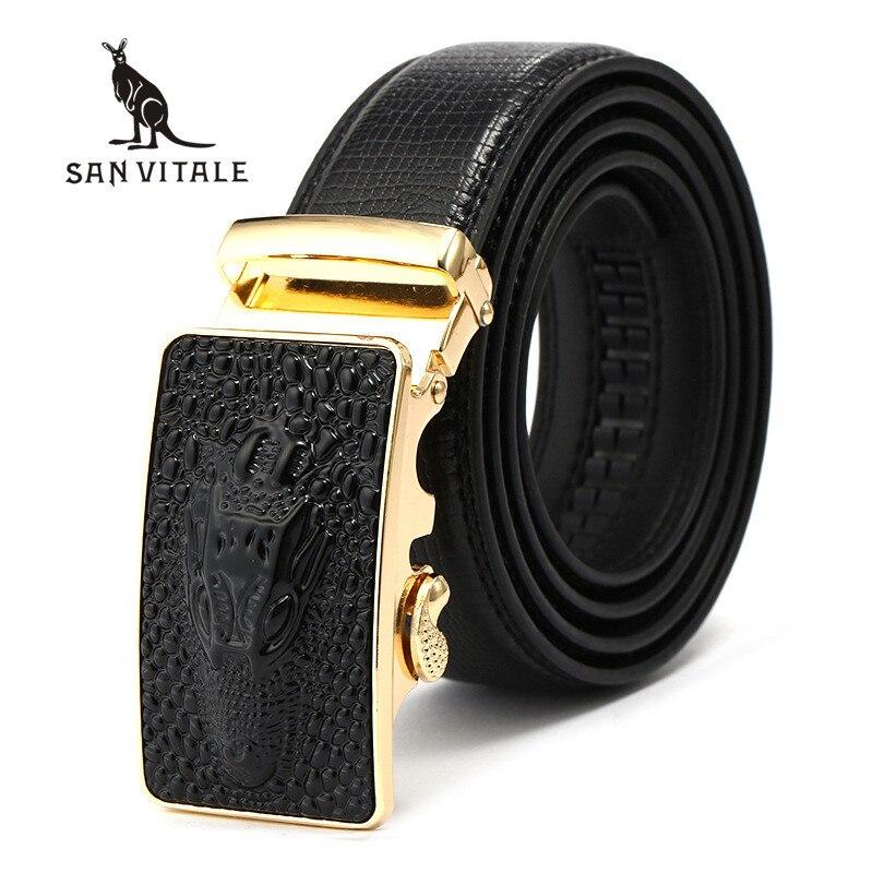 Belts Mens Belt Genuine Leather For Jeans Strap Fashion Man Slim Black Stretch Buckles For Suit Luxury Brand Ratchet Reversible