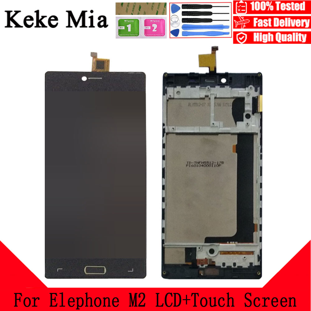 Keke Mia 5.5 inch For Elephone M2 LCD Display + Touch Screen Digitizer Assembly With Frame Replacement