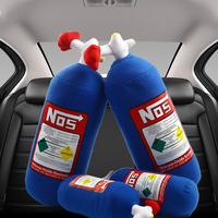 NOS Nitrous Oxide Bottle Pillow Plush Toy Turbo JDM Cushion Gift Decor Headrest Backrest Seat Cover