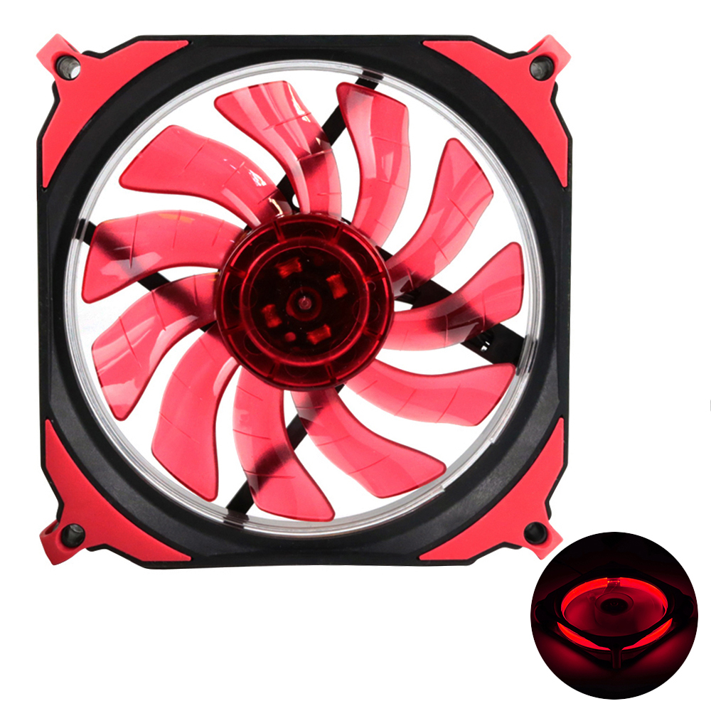 KEEPRO Original Eclipse LED Silent Fan PC Computer Chassis Fan Case Heatsink Cooler Cooling Fan DC 12V 4P 3P 120*120*25mm original delta aub0812vhb 8015 8cm 80mm dc 12v 0 30a slim chassis power supply cooling fans cooler