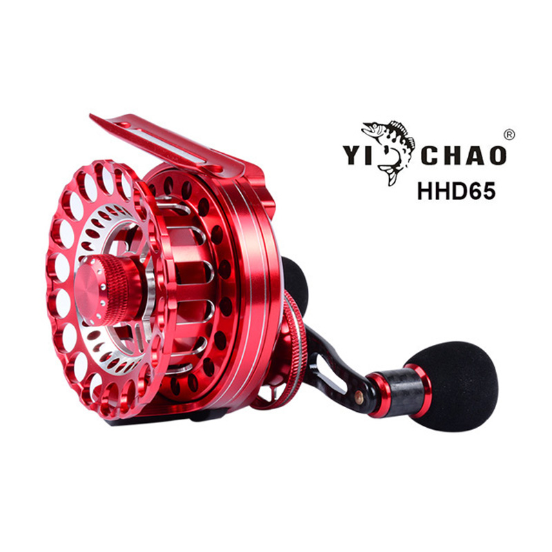 New HHD65 Gear ratio 4.3:1 Aluminum Front-end Fishing Left/Right Hand Fly Fishing Reel Raft Ice Fishing Reel raft reel