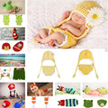 Lovely Daisy Flower Crochet Baby Hat&Diaper Set Knitted Newborn Baby Photo Props Infant Handmade Outfit 1set MZS-14017