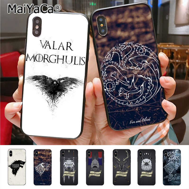MaiYaCa House Sigils for a Game of Thrones Colorful Phone Accessories Case for iPhone X 8plus 7 6splus 5s se 5c 7plus case Cover