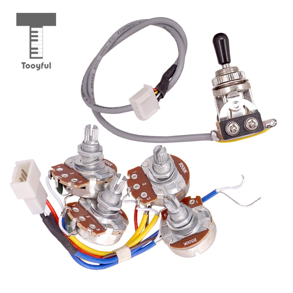 Tooyful Electric Guitar Accs Circuit Wiring Kit A500k B500k Pots 3 A Way Toggle Switch For Lp In Parts Accessories From Sports Entertainment On