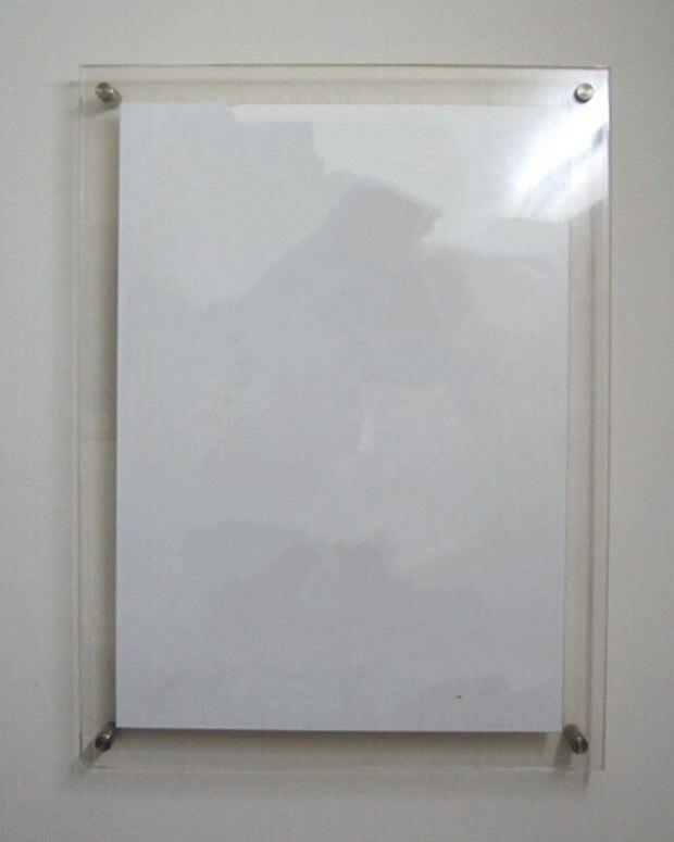 Gt4166 a4) montado en la pared transparente acrílico foto Marcos con ...