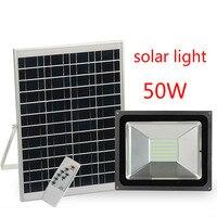 Солнечный свет наводнения 50 Вт открытый Водонепроницаемый сад Солнечный свет Intelligent Light Управление Road прожектор