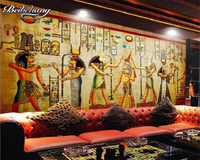 Personalized Custom Vintage Wallpaper Theme Room Sofa Backdrop Of Large Wall Paintings Of Ancient Egypt Photo