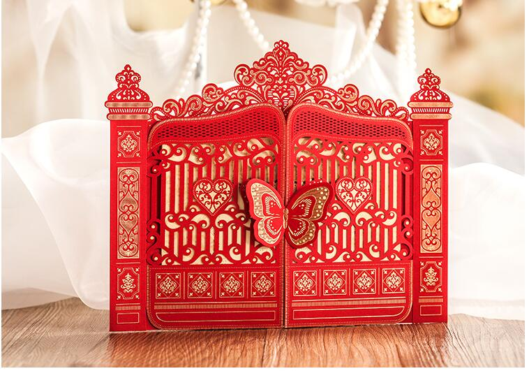 2017 arrival pasayione creative chinese traditional wedding 2017 arrival pasayione creative chinese traditional wedding invitation card wedding cards invitation with butterfly tablewares in cards invitations from stopboris Gallery