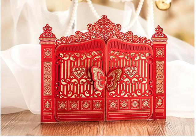 2017 arrival pasayione creative chinese traditional wedding 2017 arrival pasayione creative chinese traditional wedding invitation card wedding cards invitation with butterfly tablewares stopboris Image collections