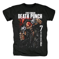 Bloodhoof Five Finger Death Punch And Justice for None album black metal t shirt Asian Size