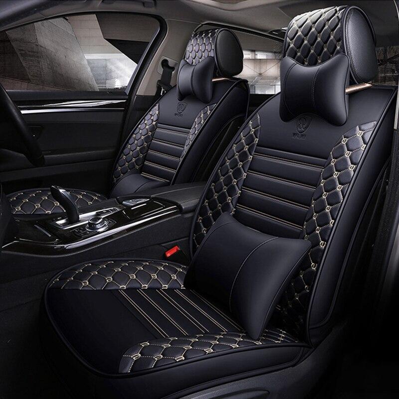 Wenbinge Spéciale siège de voiture En Cuir couvre pour hyundai solaris tucson 2017 creta getz i30 i20 accent ix35 accessoires de voiture- style