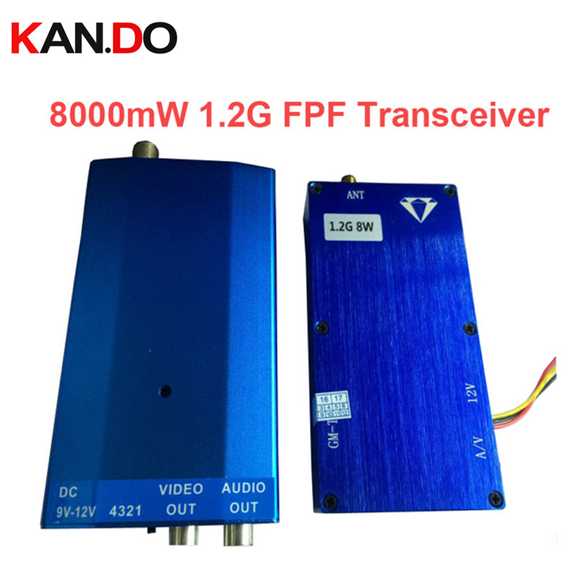 8W 1.2G Wireless cctv transceiver for cctv Video Audio Transmitter transmission FPV transmitter AV sender video transmitter